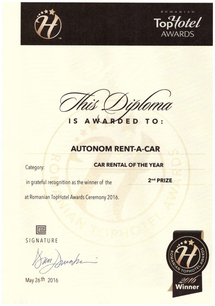 Prize Car Rental Company of the year